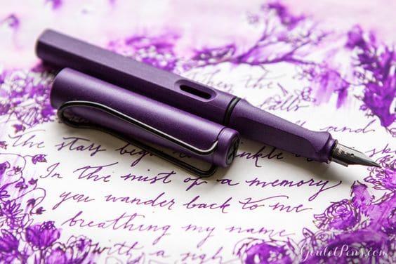 bút-máy-Lamy-Safari-tím