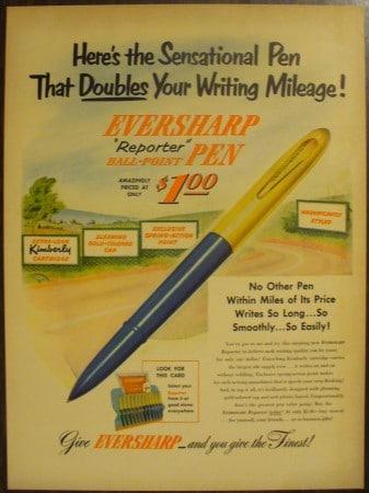 quảng cáo bút bi của Eversharp