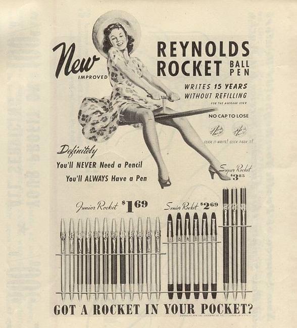 quảng cáo bút bi của Reynolds-Rocket