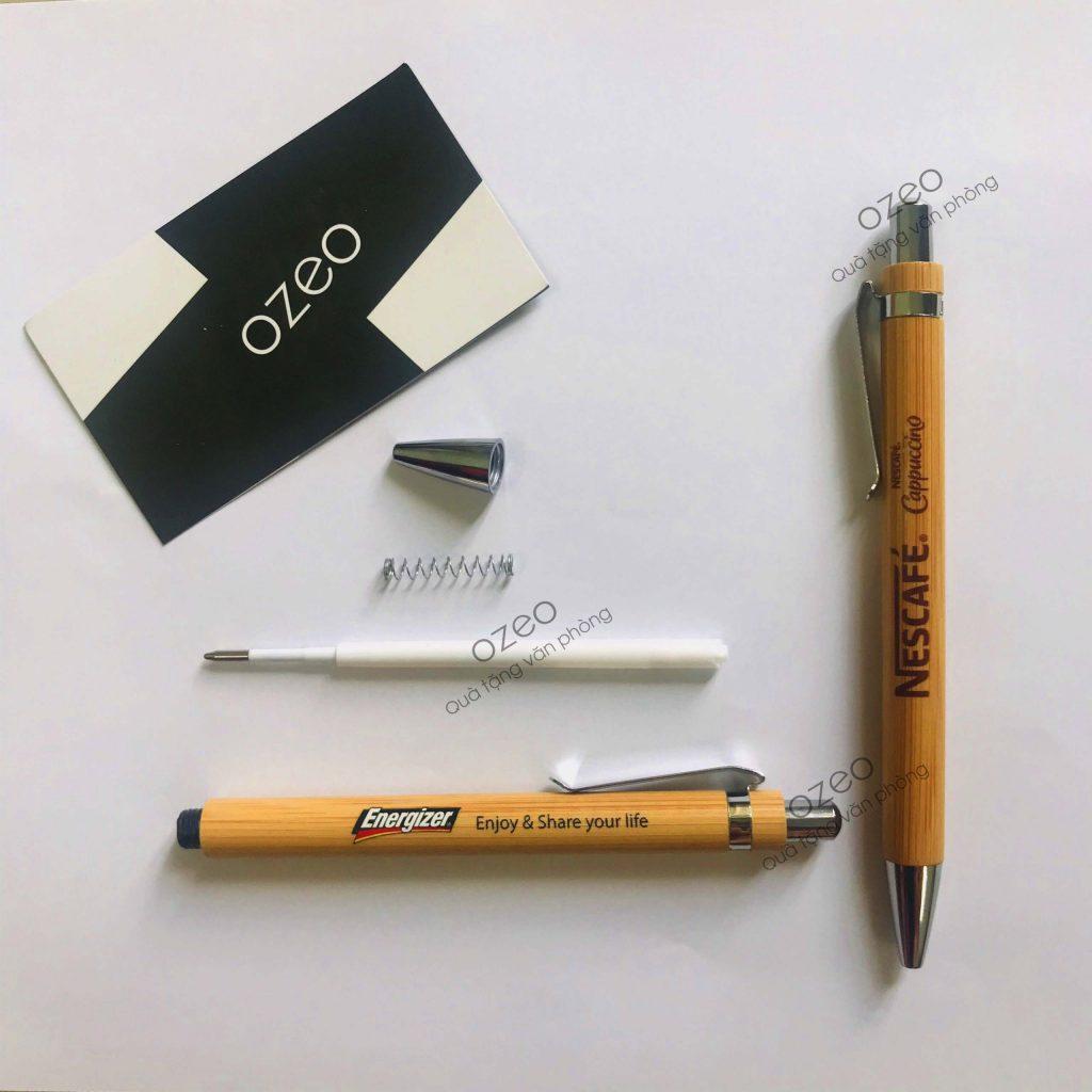 Các bộ phận bên trong của bút bi bằng tre BT0303