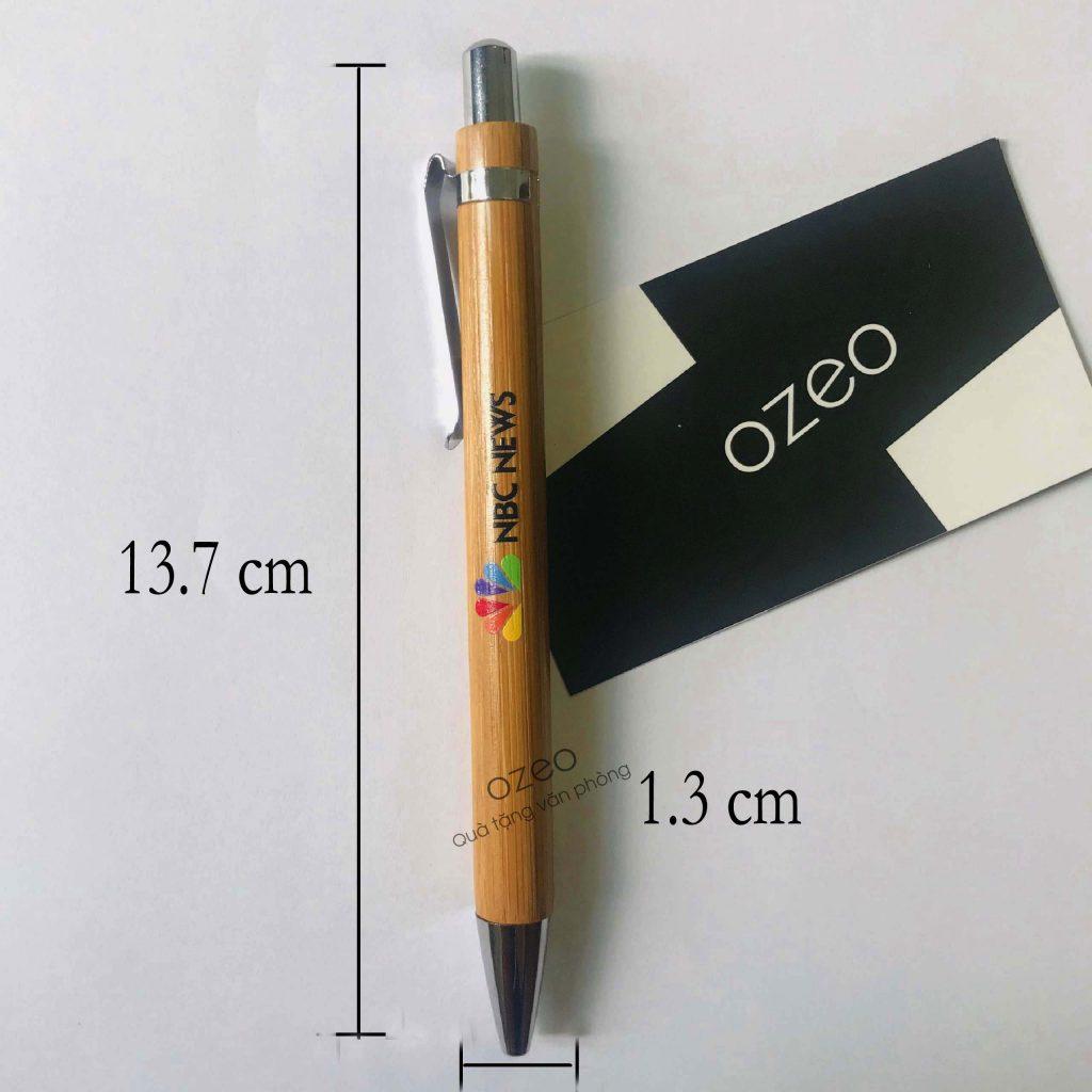 Kích thước bút bi bằng tre BT0303.